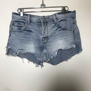 Free People Cut Off Distressed Shorts